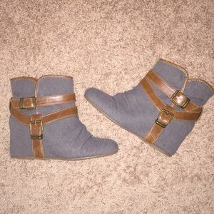 ALDO wedge ankle boots